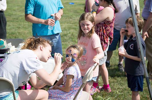 Malvern Family Festival face painting