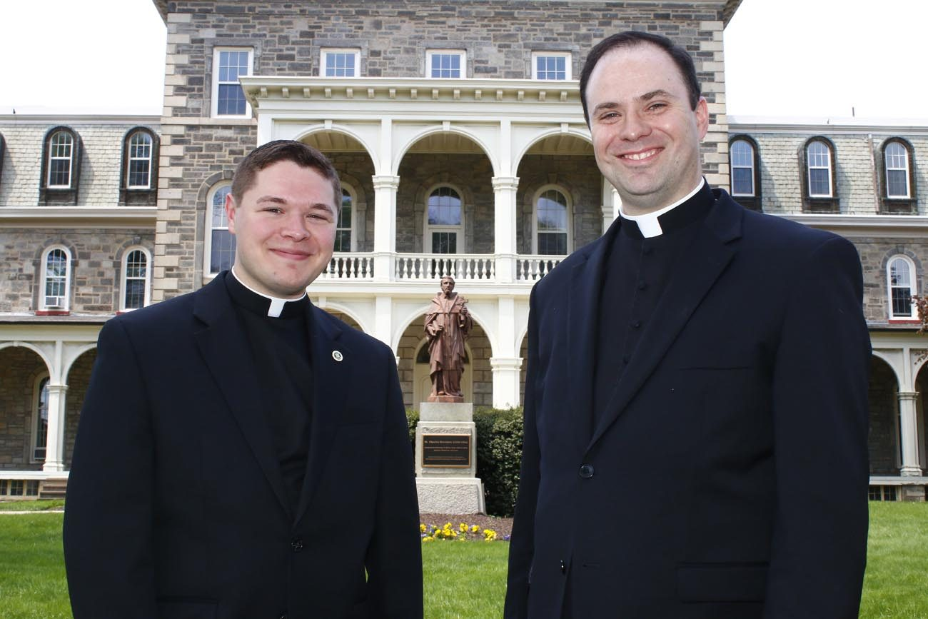 Rev. Mr. Matthew Brody (left) and Rev. Mr. Brian Connolly are leaving St. Charles Borromeo Seminary for last time as seminarians this May before their ordination to priesthood May 20 at the Cathedral Basilica of SS. Peter and Paul. (Sarah Webb)