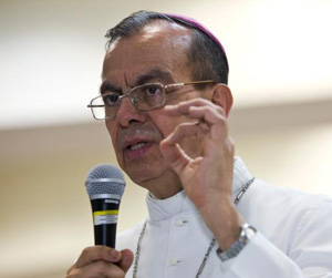 Cardinal-designate Gregorio Rosa Chavez, auxiliary bishop of San Salvador, El Salvador, pictured in a 2015 photo, is one of five new cardinals Pope Francis will create at a June 28 consistory. (CNS photo/Octavio Duran)