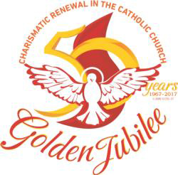 This is the logo for the 50th anniversary celebrations of the Catholic Charismatic Renewal to be held in Rome May 31 to June 4. (CNS/courtesy Catholic Charismatic Renewal)