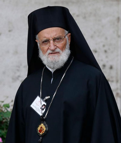 Melkite Catholic Patriarch Gregoire III Laham is seen at the Vatican Oct. 6, 2015. The Vatican announced May 6 that Pope Francis had accepted the resignation of the Melkite Catholic Church leader. (CNS photo/Paul Haring)