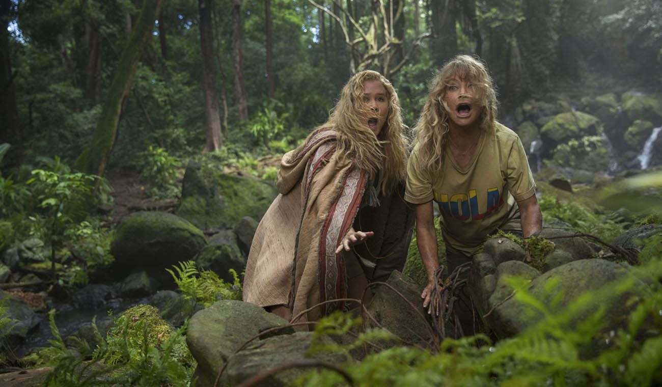 "Amy Schumer and Goldie Hawn star in a scene from the movie ""Snatched."" (CNS photo/Fox)"