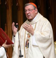 Australian Cardinal George Pell celebrates Mass in 2014 in Sydney.(CNS photo/Jane Dempster, EPA)