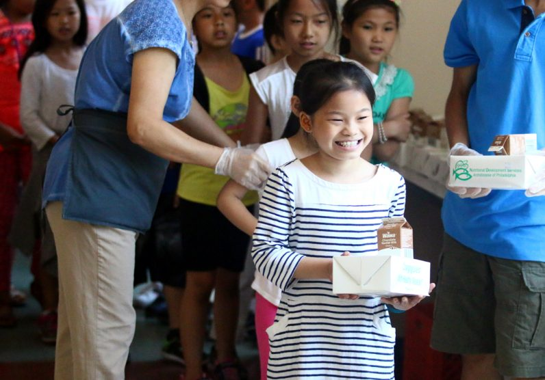 Winnie Chen is happy to get her lunch provided through NDS Summer Meals Program.
