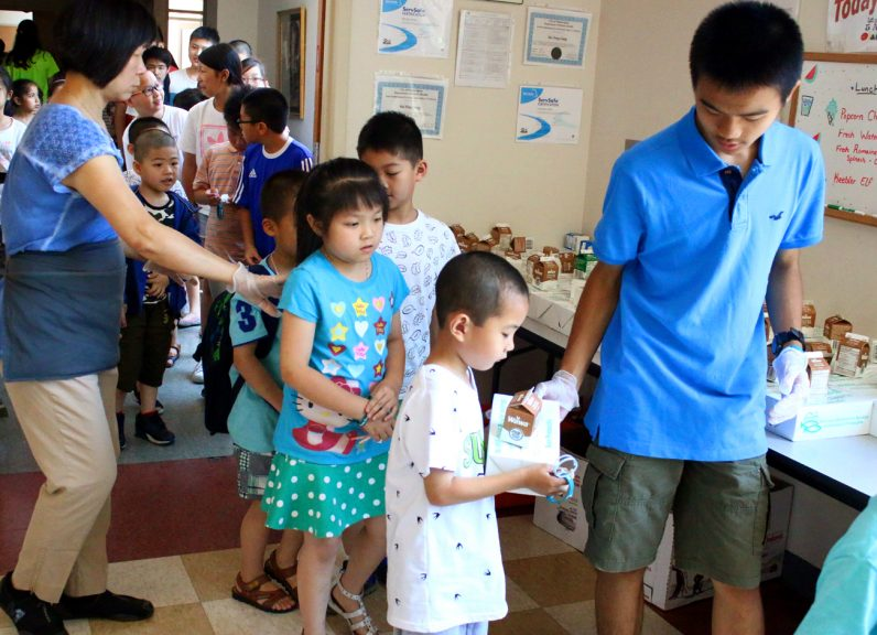 NDS Summer Meals Program, which is federally funded and operated nationally by the United States Department of Agriculture (USDA), provides meals for children at Holy Redeemer Summer Camp in the Chinatown section of Philadelphia.