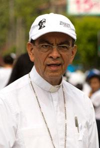 Cardinal-designate Gregorio Rosa Chavez, auxiliary bishop of San Salvador, El Salvador, is seen in San Salvador March 26. (CNS photo/Octavio Duran)