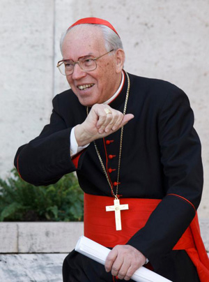 Italian Cardinal Giovanni Battista Re is pictured in a 2012 photo at the Vatican. Pope Francis approved the election of Cardinal Re, 83, as subdean of the College of Cardinals. (CNS photo/Paul Haring)