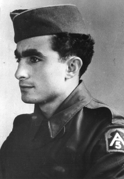 Sergeant Louis DeSimone, assigned as an Italian translator with the U.S. Fifth Army during the campaign in Italy in 1943-44, would later be ordained a priest and auxiliary bishop for the Archdiocese of Philadelphia.