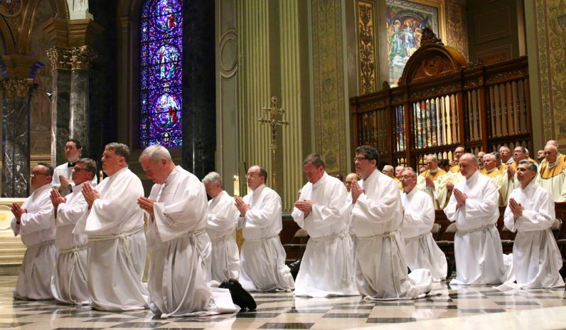 Twelve men were ordained deacons June 10 at the Cathedral Basilica of SS. Peter and Paul by Archbishop Charles Chaput.