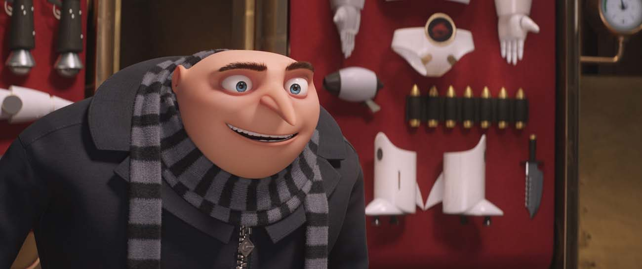 "Gru, voiced by Steve Carell, appears in the  animated movie ""Despicable Me 3."" (CNS photo/Universal)"