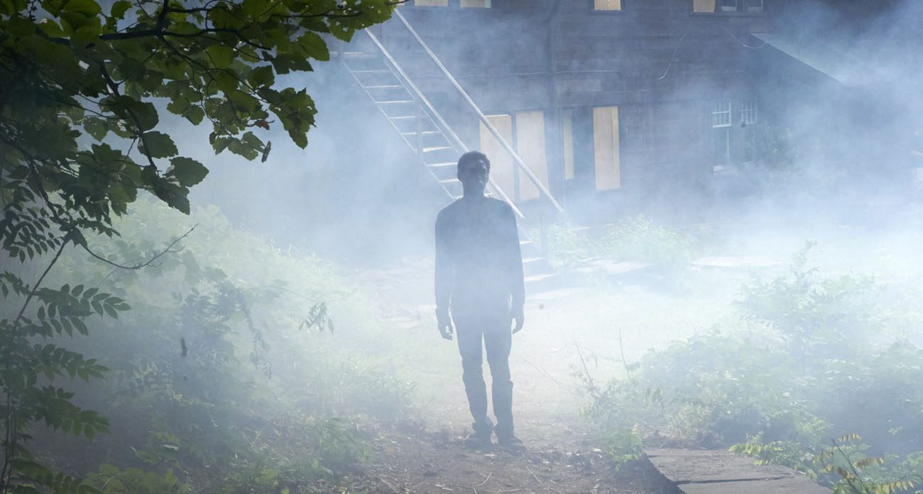 """Kelvin Harrison Jr. stars in a scene from the movie """"It Comes At Night."""" (CNS photo/A24)"""