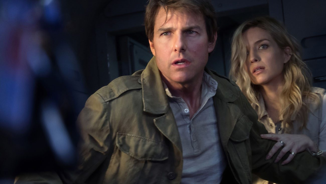 """Tom Cruise and Annabelle Wallis star in a scene from the movie """"The Mummy."""" (CNS photo/Universal)"""