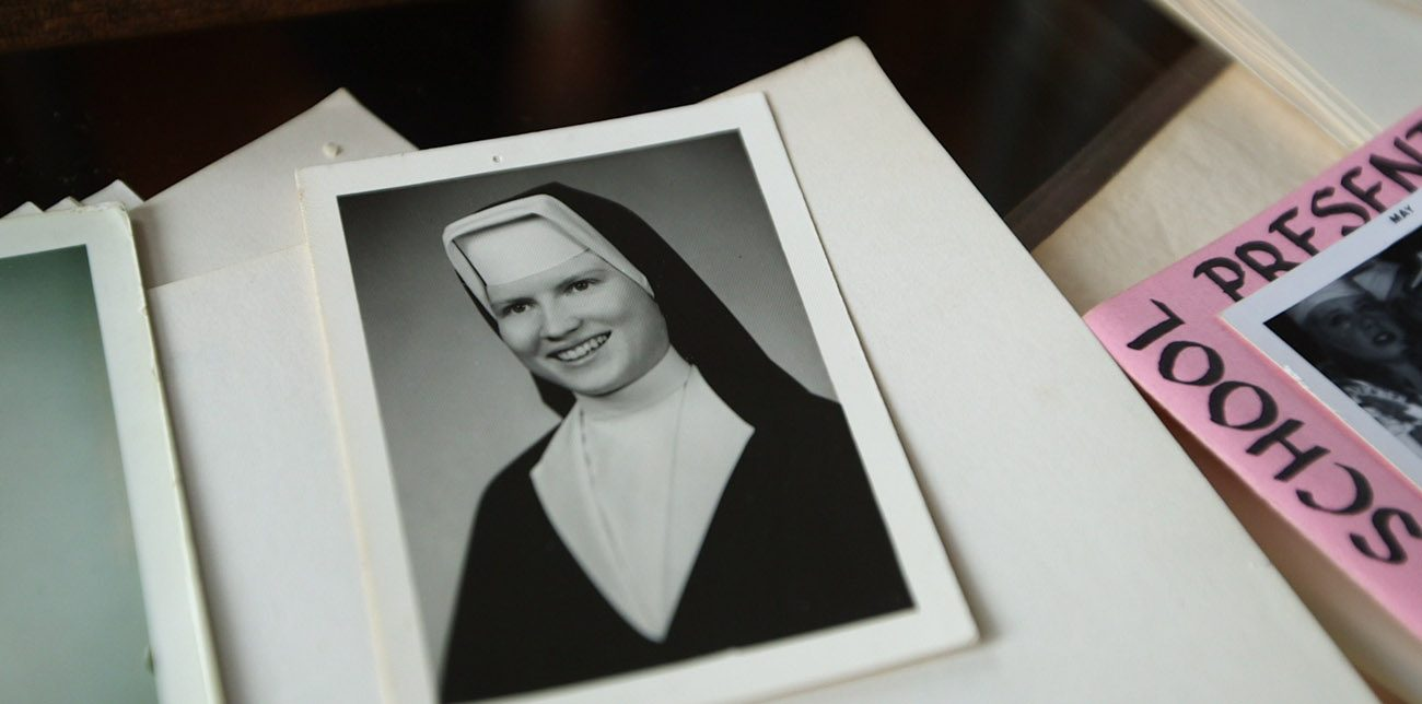"""A portrait of Sister Catherine Cesnik is seen in a still from the Netflix documentary series """"The Keepers."""" As Netflix prepared to release the seven-part documentary about the unsolved 1969 murder of a Baltimore nun, officials of the Archdiocese of Baltimore reaffirmed that the church did not attempt to interfere in the investigation of the death of Sister Catherine. (CNS photo/courtesy Netflix)"""
