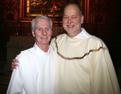 Deacon Jack Pfeifer (right) and Joe Murphy.