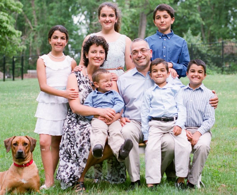 The family of the late Dr. Amy Reed and her husband, Hooman Noorchashm, along with their family in Yardley, Bucks County.