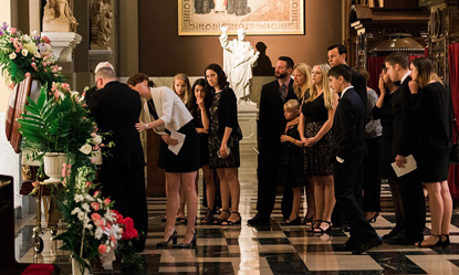 Family and friends attend the June 1 funeral of Dr. Amy Reed at the Cathedral Basilica of SS. Peter and Paul, Philadelphia.