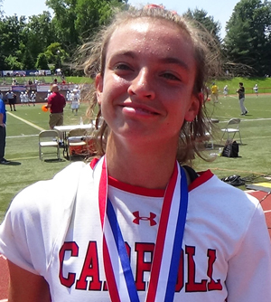 University of Syracuse-bound senior Sam Swart scored the final two goals for Archbishop Carroll in the waning moments of the state lacrosse championship victory over Springfield June 10. Swart tallied three goals on the day. (John Knebels)