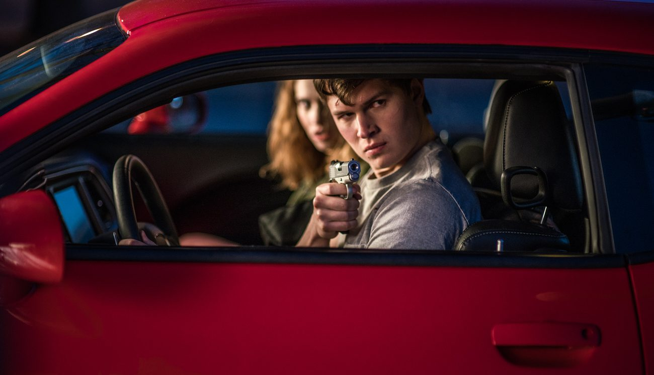 """Ansel Elgort and Lily James star in a scene from the movie """"Baby Driver."""" The Catholic News Service classification is L -- limited adult audience, films whose problematic content many adults would find troubling.  The Motion Picture Association of America rating is R -- restricted. Under 17 requires accompanying parent or adult guardian. (CNS photo/Sony)"""