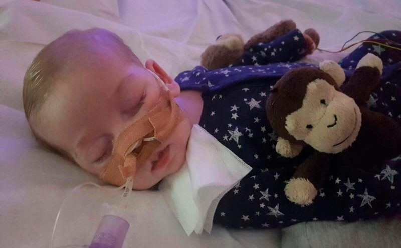 Charlie Gard, who was born in England with mitochondrial DNA depletion syndrome, is pictured in this undated family photo. The baby's parents, Chris Gard and Connie Yates, have lost their legal battle to keep Charlie on life-support and seek treatment for his rare condition in the United States. (CNS photo/family handout, courtesy Featureworld) See ACADEMY-BABY-LIFE-SUPPORT June 29, 2017.