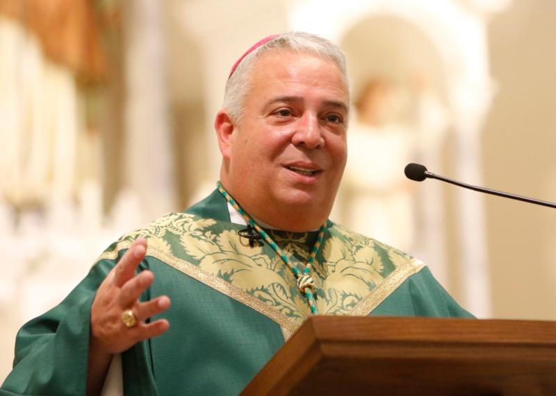 Pope Francis has named Auxiliary Bishop Nelson J. Perez of Rockville Centre, N.Y., to head the Diocese of Cleveland. Bishop Perez is pictured in a 2016 photo. (CNS photo/Gregory A. Shemitz, Long Island Catholic)