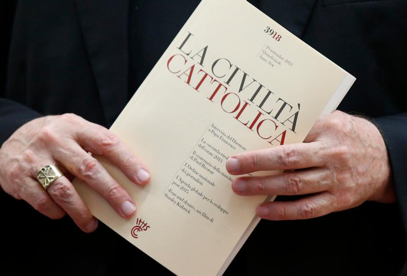 An issue of the Italian journal La Civilta Cattolica is seen at the Vatican in this 2013 file photo. (CNS photo/Paul Haring)