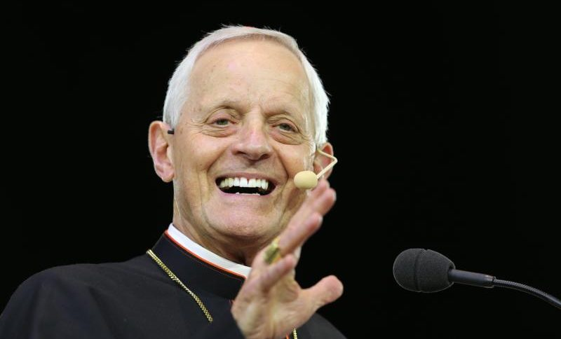 "Washington Cardinal Donald W. Wuerl  smiles while speaking during the ""Convocation of Catholic Leaders: The Joy of the Gospel in America"" July 2 in Orlando, Fla. Leaders from dioceses and various Catholic organizations are gathering for the July 1-4 convocation. (CNS photo/Bob Roller) See CONVOCATION-WUERL July 2, 2017."
