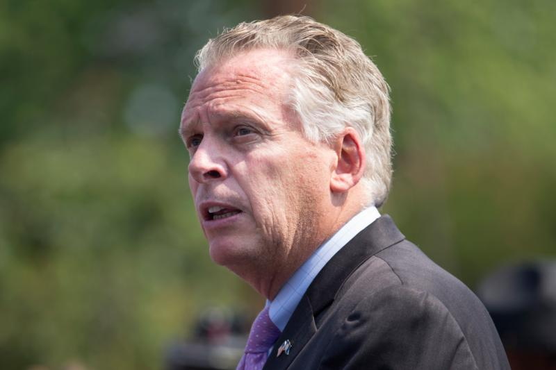 Virginia Gov. Terry McAuliffe is seen in Alexandria, Va., June 14. (CNS photo/Michael Reynolds, EPA)