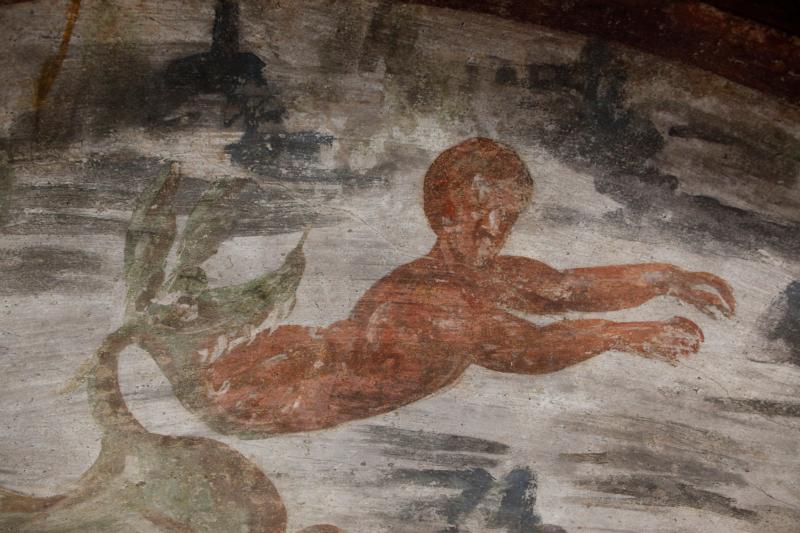 Jonah, a familiar prophet, is spit out of the whale in this fresco seen during the unveiling of two newly restored burial chambers in the Christian catacombs of St. Domitilla in Rome May 30. Often, the prophets communicated the word of God at their own peril. By the same token, avoiding God's call -- as Jonah so famously tried to do -- can have its own consequences. (CNS photo/Carol Glatz)