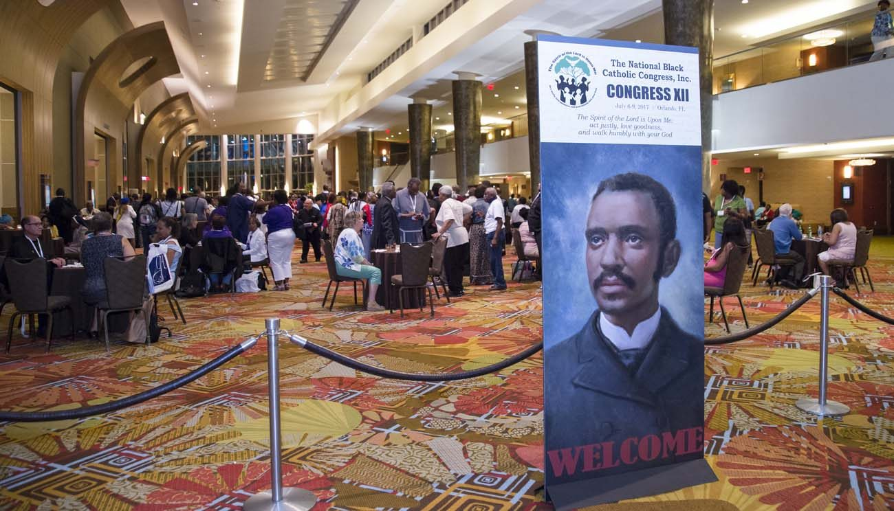 Participants are seen July 9 during the 12th National Black Catholic Congress July 9 in Orlando, Fla. (CNS/courtesy Nancy Jo Davis, National Black Catholic Congress)