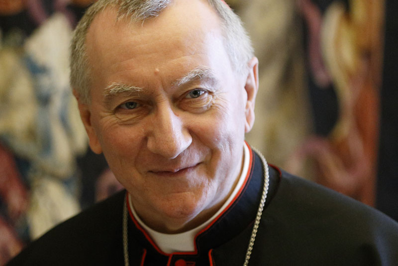 Cardinal Pietro Parolin, Vatican secretary of state, is pictured at the Vatican May 26. (CNS photo/Paul Haring)