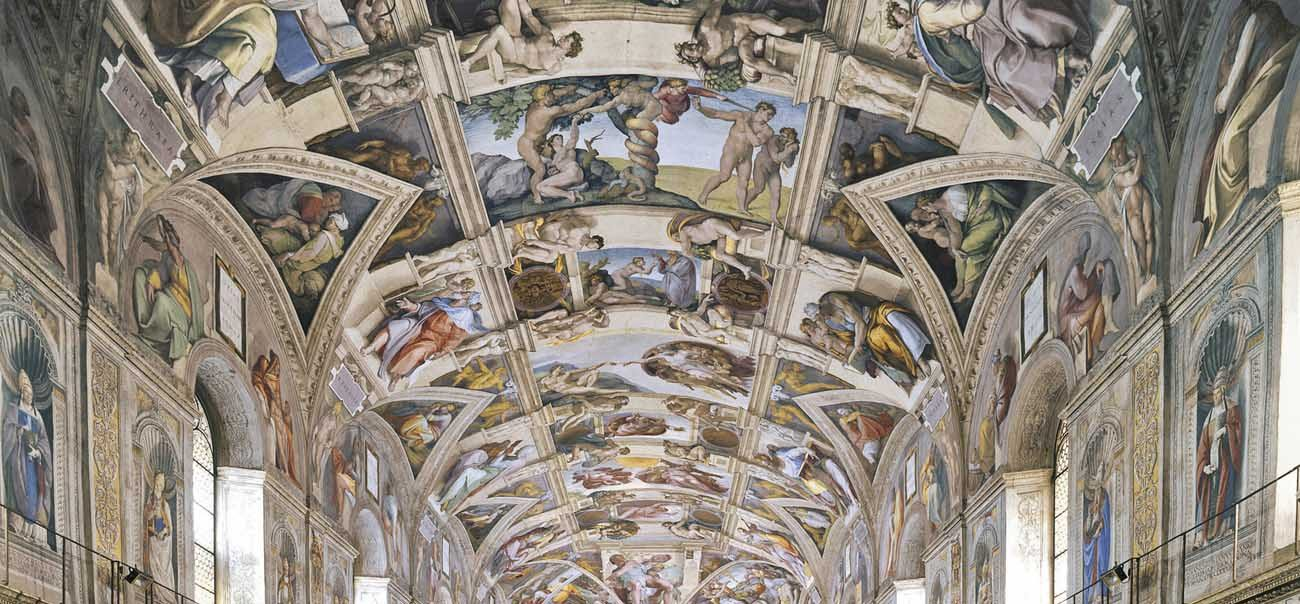 "In the documentary illustrating Pope Francis' ""gospel of art,"" the pontiff calls the Sistine Chapel ""a work of evangelization"" and catechesis of God's mercy. (CNS photo/Vatican Museums)"