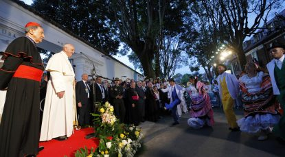 Pope arrives to help promote healing in Colombia, scarred by