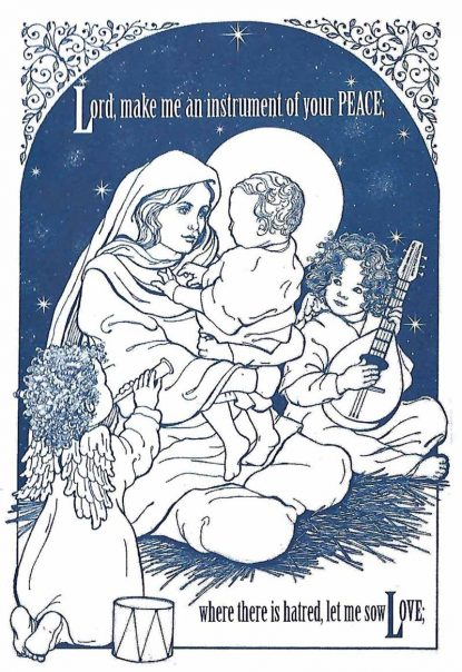 These christmas cards spread good cheer while feeding the needy a new card in the nutritional development services alternative christmas card offerings designed by artist patty smith includes the words inside m4hsunfo