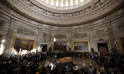 Rev. Billy Graham lies in honor in Capitol Rotunda