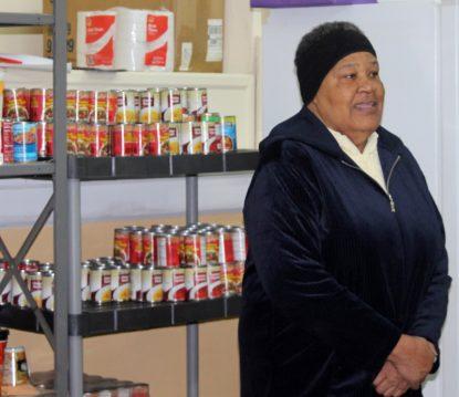 St. Ignatius food pantry volunteer Gloria Ayres has been helping feed her West Philadelphia neighbors at the site since 2002. (Photo by Sarah Webb)