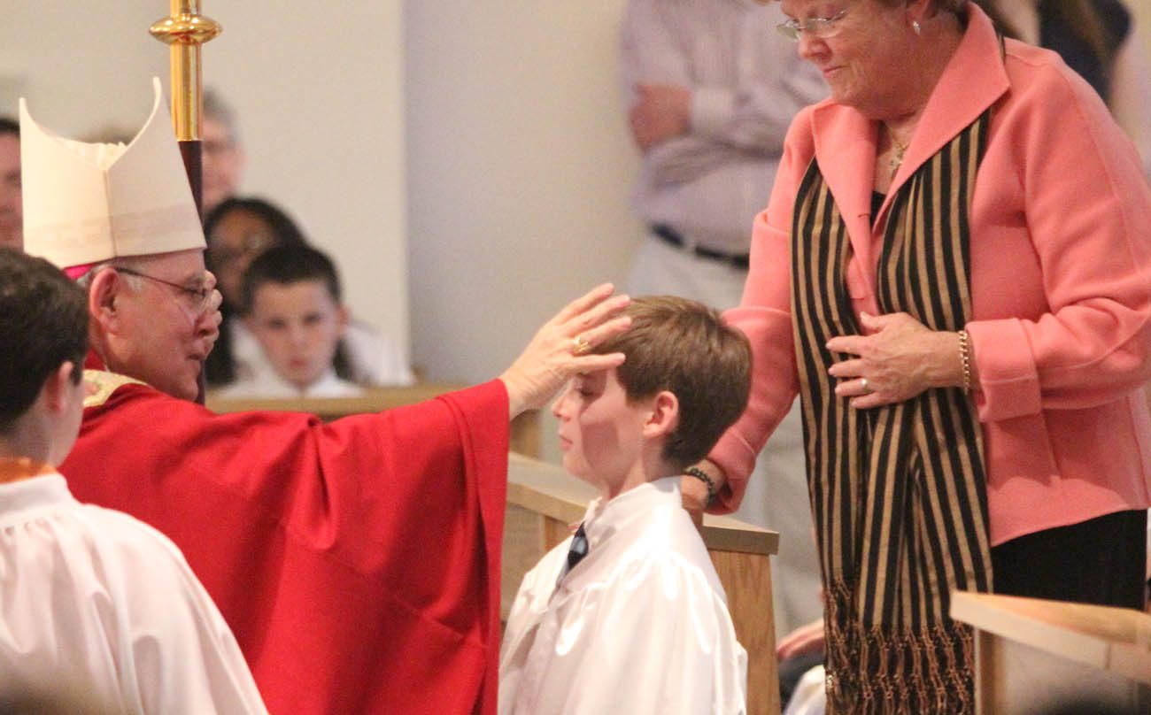 The new normal 7th 8th graders now to receive confirmation matthew christopher burger accompanied by sponsor sarah ritcey is confirmed by archbishop charles chaput at st genevieve parish flourtown thecheapjerseys Choice Image