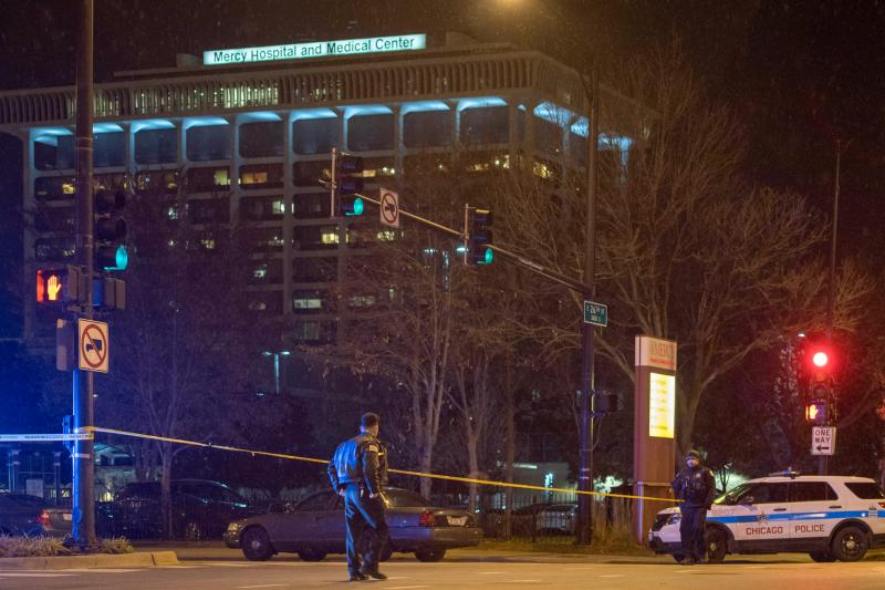 Victims of violence at Chicago hospital, St  Louis store
