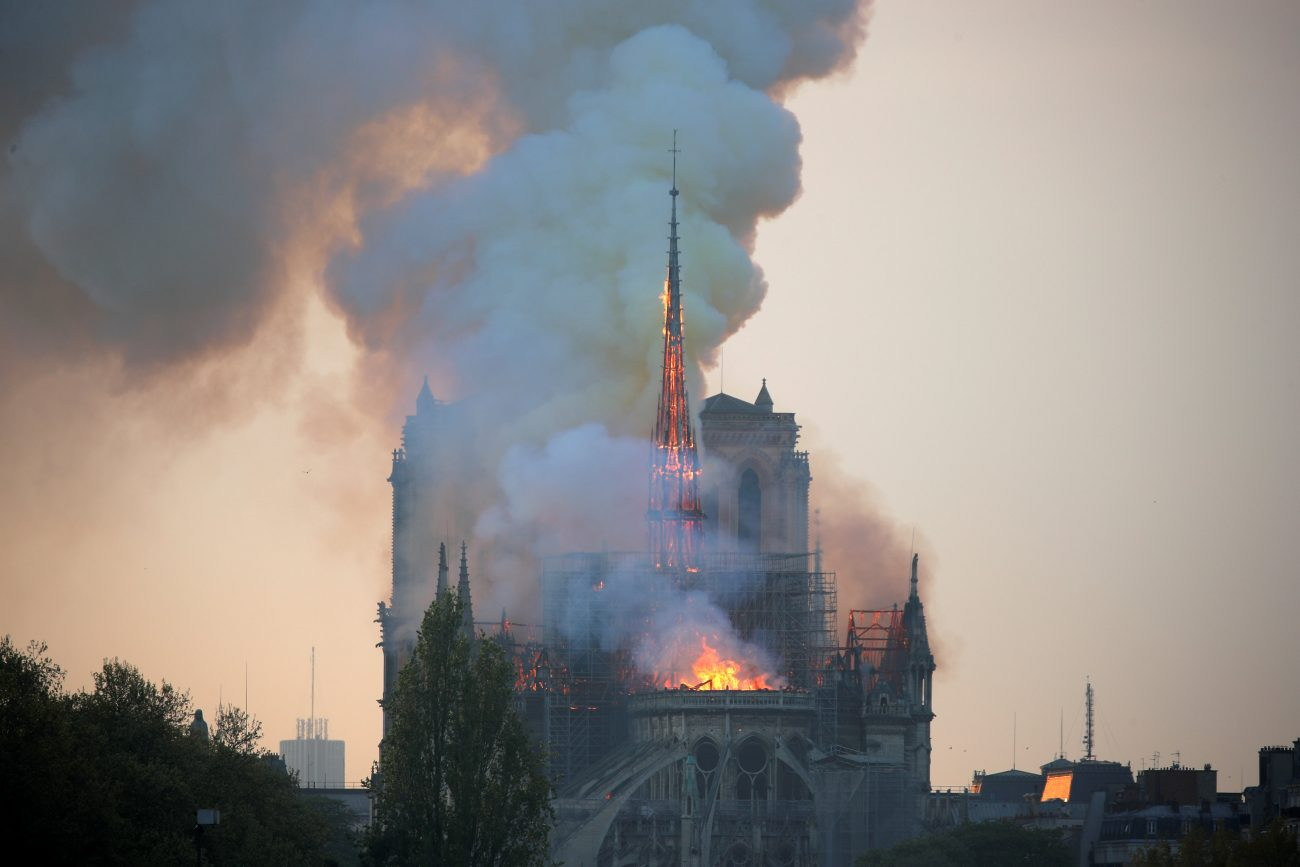 Tragedy At Twilight Notre Dame Cathedral Burns Catholic
