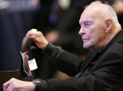 The now laicized and former Cardinal Theodore E. McCarrick, pictured in 2017, has been named in a lawsuit under New Jersey's new victims' rights law that lifts the statute of limitation and provides a two-year window for sexual abuse survivors to bring lawsuits in cases that were previously barred by the statute of limitations, no matter when the abuse occurred or how old the survivor is. (CNS photo/Bob Roller)