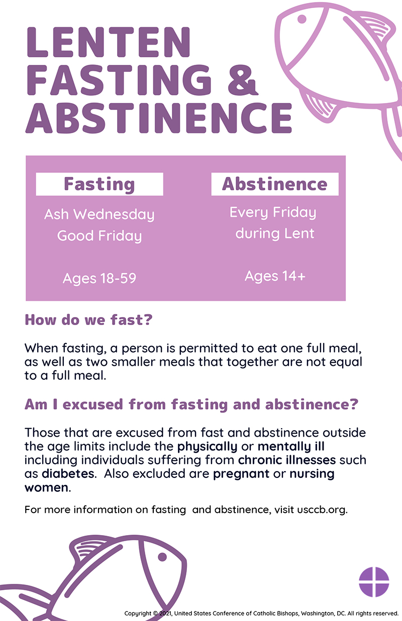 Rules For Fasting And Abstinence During Lent Catholic Philly